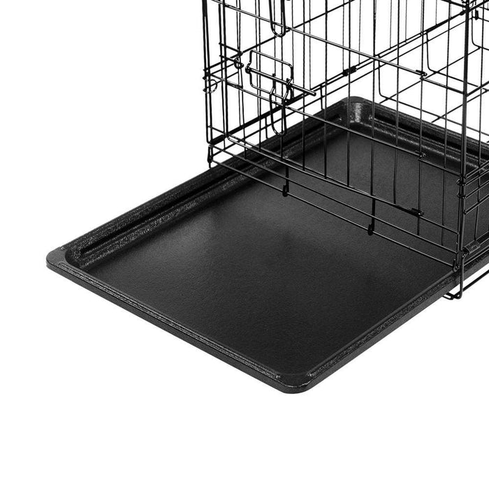 i.Pet 24inch Pet Cage - Black - Ramp Champ - Ramp Champ