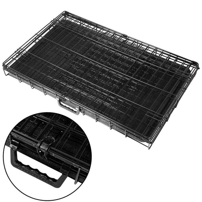 i.Pet 42inch Pet Cage - Black - Ramp Champ - Ramp Champ