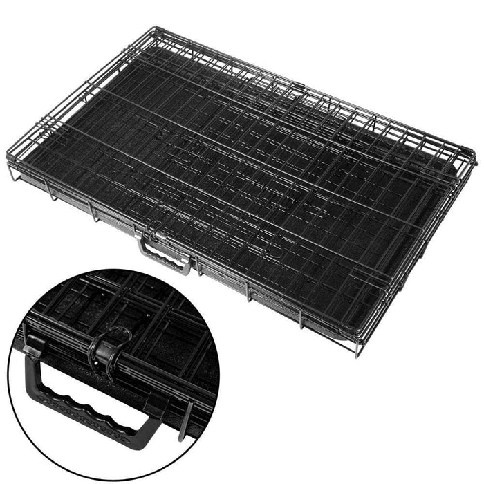 i.Pet 36inch Collapsible Pet Cage - Black - Ramp Champ - Ramp Champ