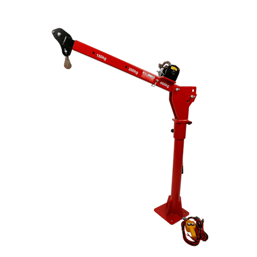 Red Label Economy 12V Powered Lightweight Utility Crane, 450kg - Red Label Economy - Ramp Champ