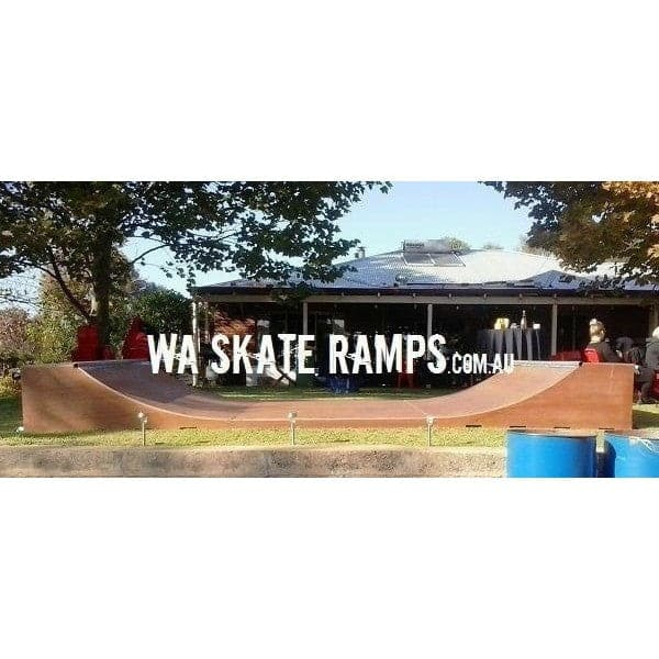WA Skate Ramps 60cm High x 1.8m Wide Halfpipe (2ft High x 6ft Wide) - WA Skate Ramps - Ramp Champ