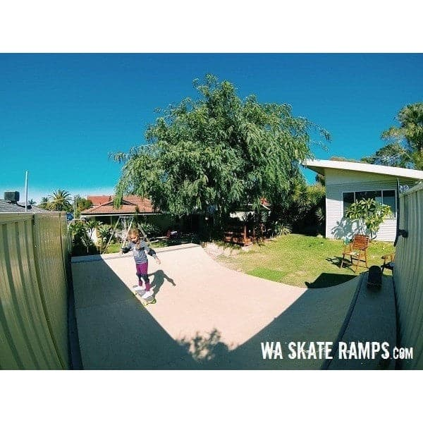 WA Skate Ramps 60cm High x 3.6m Wide Halfpipe (2ft High x 12ft Long) - WA Skate Ramps - Ramp Champ