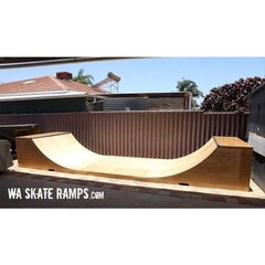 WA Skate Ramps 90cm High x 1.2m Wide Halfpipe (3ft High x 4ft Wide)