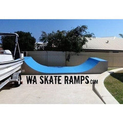 WA Skate Ramps 90cm High x 2.4m Wide Halfpipe (3ft High x 8ft Wide)