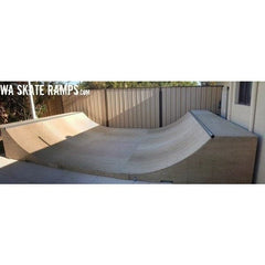 WA Skate Ramps 90cm High x 4.8m Wide Halfpipe (3ft High x 16ft Wide)