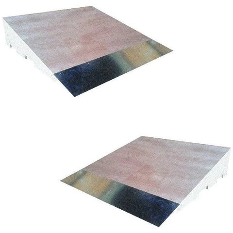 WA Skate Ramps Set of 2 x 1.2m Wide Skateboard Jump Ramps