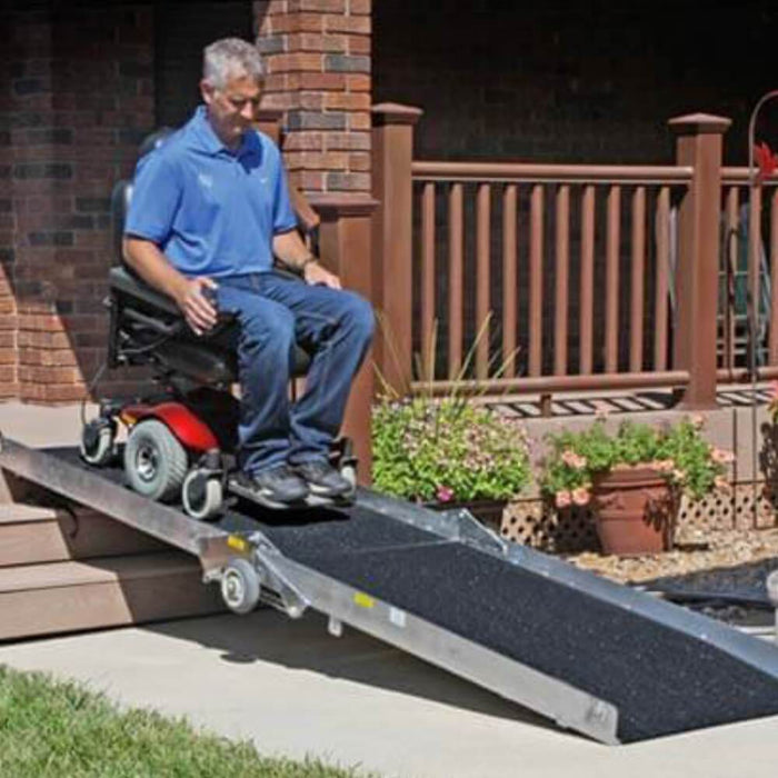 PVI Wheel-A-Bout Portable Wheelchair Access Ramp, 360kg Capacity - PVI - Ramp Champ