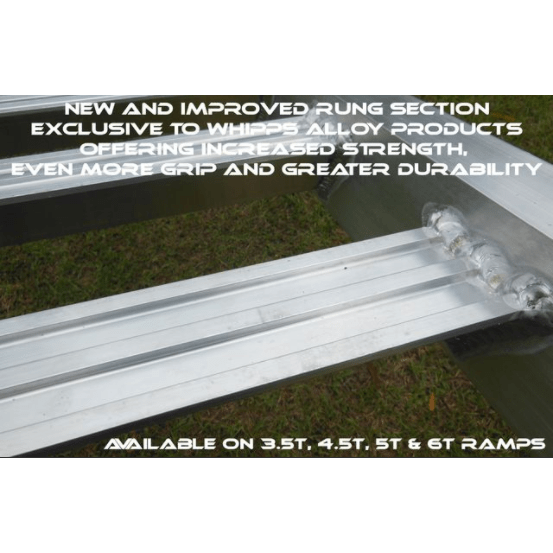 Whipps Construction & Machinery Whipps 3.5 Tonne 2.5 m x 500mm Aluminium Loading Ramps