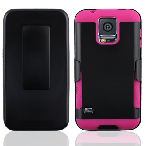 Samsung Galaxy S5 gear holster clip black/hot pink #SAMS5CBG02S13#