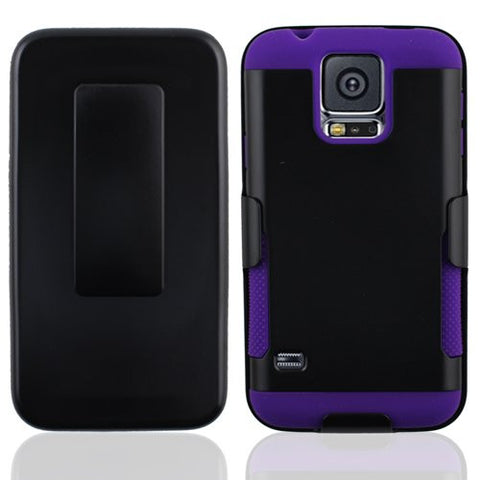 Samsung Galaxy S5 gear holster clip black/purple #SAMS5CBG02S08#