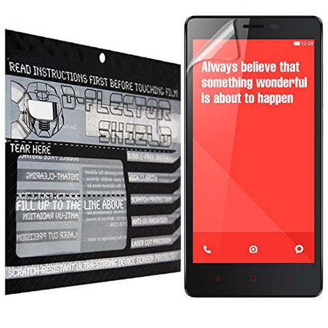 D-Flectorshield Xiaomi Redmi Note 4G Scratch Resistant Screen Protector - Free Replacement Program