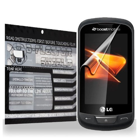 D-Flectorshield LG Rumor Reflex / Freedom / Xpression / Converse Scratch Resistant Screen Protector - Free Replacement Program