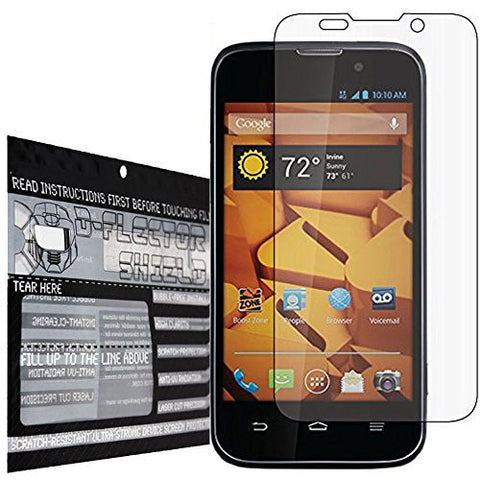 DFlectorshield Premium Scratch Resistant Screen Protector for the ZTE Warp 4G N9810 HD Protection with free Lifetime Replacement Program