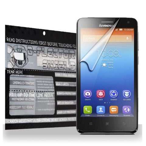 D-Flectorshield Lenovo S660 Scratch Resistant Screen Protector - Free Replacement Program