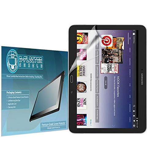DFlectorshield Premium Scratch Resistant Screen Protector for the Samsung Galaxy Tab 4 Nook 10.1 HD Protection with free Lifetime Replacement Program