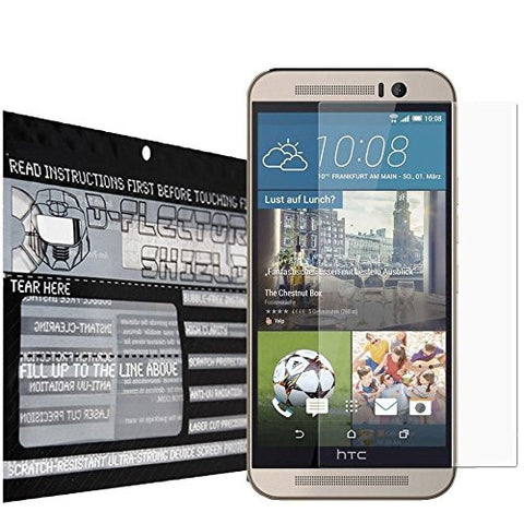 DFlectorshield Premium Scratch Resistant Screen Protector for the HTC One M8s HD Protection with free Lifetime Replacement Program