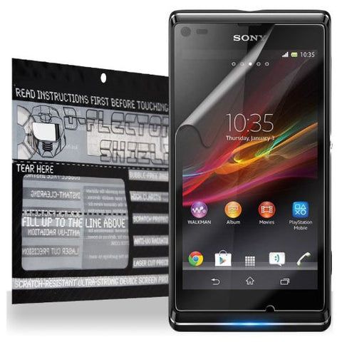D-Flector Super Clear Scratch Resistant SONY XPERIA L C2104 C2105 Screen Protector - Free Replacement Program (SLIM CASE COMPATIBLE Protection)