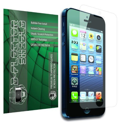 D-Flectorshield BEST Ballistic Anti-Shock Tempered Glass Screen Protector for Iphone 5 and 5S