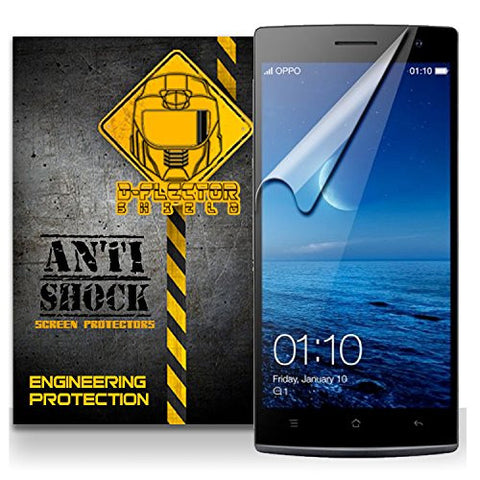 D-Flectorshield Oppo Find 7A Anti-Shock/military grade/ TPU /Premium Screen Protector / self healing / oleophobic material / EZ install / ultra high definition / scratch proof / bubble free install / precise laser cuts
