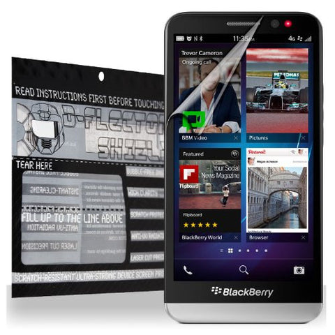 D-Flectorshield BlackBerry Z30 Scratch Resistant Screen Protector - Free Replacement Program