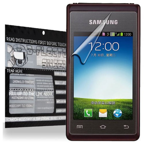 D-Flectorshield Samsung Hennessy Scratch Resistant Screen Protector - Free Replacement Program