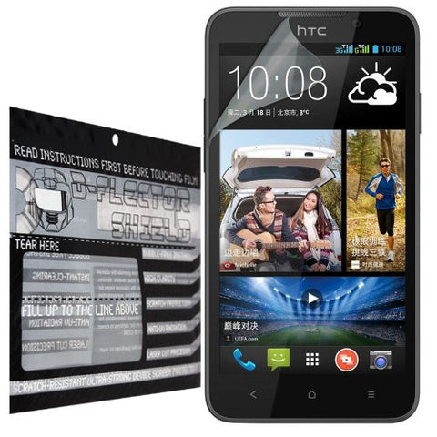 D-Flectorshield HTC Desire 316 Screen Protector Scratch Resistant / Self Healing Technology / HD Clarity / lint and bubble free with Free Lifetime Replacement Program