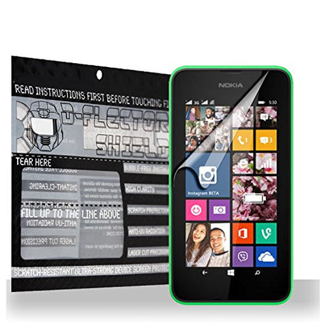 D-Flectorshield Scratch Resistant Nokia Lumia 530 Premium screen protector/anti-scratch/scratch resistant/self-healing technology/oleophobic material/high definition/bubble free install/Precise and accurate fitment with lifetime free replacement program