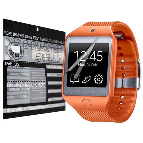 D-Flectorshield Scratch Resistant Samsung Galaxy Gear 2 Premium screen protector with free lifetime replacement