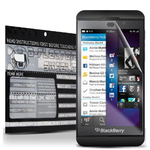 D-Flectorshield Super Clear Scratch Resistant BLACKBERRY Z10 Screen Protector - Free Replacement Program