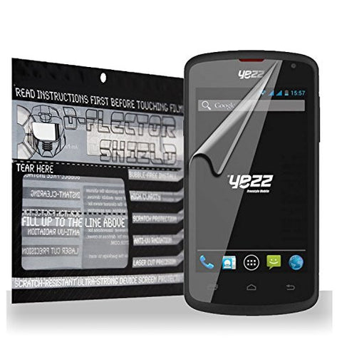D-Flectorshield Scratch Resistant Yezz Andy A4m Premium screen protector/anti-scratch/scratch resistant/self-healing technology/oleophobic material/high definition/bubble free install/Precise and accurate fitment with lifetime free replacement program