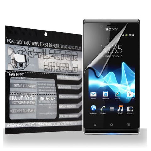D-Flectorshield Sony Xperia J Scratch Resistant Screen Protector - Free Replacement Program