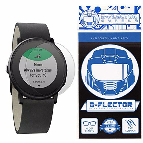 (3 PACK) DFlectorshield Screen Protector for the Pebble Time Round with free Lifetime Replacement Program