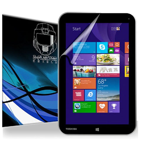 D-Flectorshield Toshiba Encore 8 Screen Protector Scratch Resistant / Self Healing Technology / HD Clarity / lint and bubble free Installation