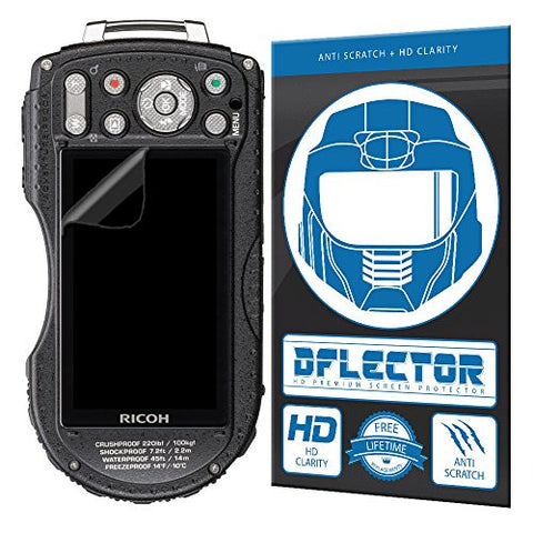DFlectorshield Premium Scratch Resistant Screen Protector for the Ricoh WG-5