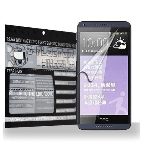 D-Flectorshield HTC Desire 816 Scratch Resistant Screen Protector - Free Replacement Program