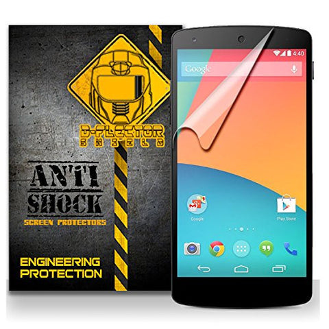 D-Flectorshield GOOGLE NEXUS 5 Anti-Shock/military grade/ TPU /Premium Screen Protector / self healing / oleophobic material / EZ install / ultra high definition / scratch proof / bubble free install / precise laser cuts