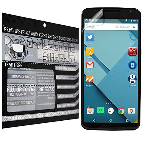 D-Flectorshield Nexus 6 Scratch Resistant Screen Protector - Free Replacement Program