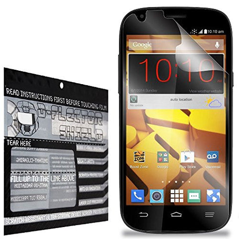 DFlectorshield Premium Scratch Resistant Screen Protector for the ZTE Warp Sync HD Protection with free Lifetime Replacement Program