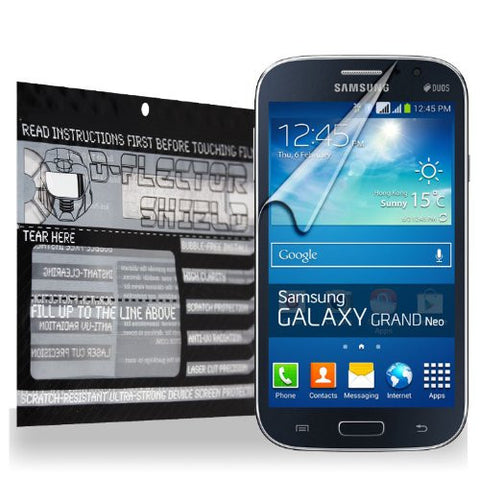 D-Flectorshield Samsung Galaxy Grand Neo Scratch Resistant Screen Protector - Free Replacement Program