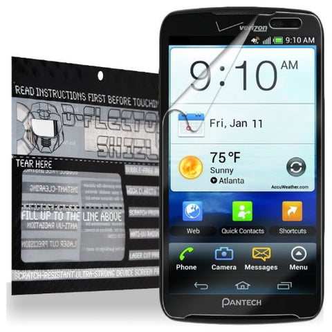 D-Flectorshield Super Clear Scratch Resistant PANTECH PERCEPTION Screen Protector - Free Replacement Program