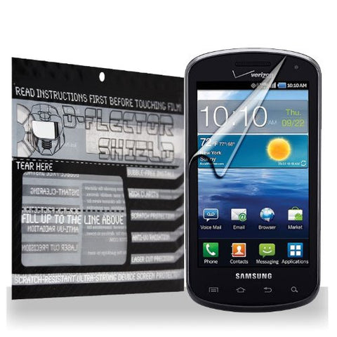 D-Flectorshield Samsung Galaxy Metrix / Stratosphere Scratch Resistant Screen Protector - Free Replacement Program