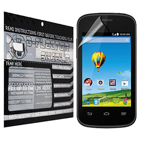 D-Flectorshield ZTE Zinger Scratch Resistant Screen Protector - Free Replacement Program