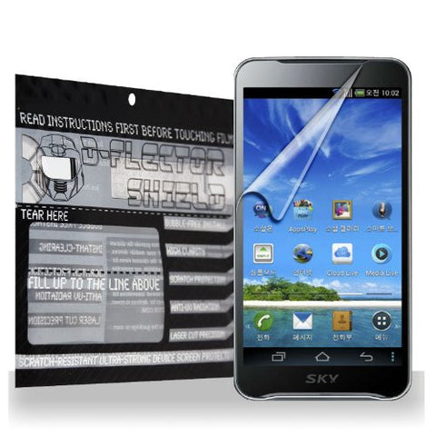 D-Flectorshield Pantech Vega LTE EX IM-A820L Scratch Resistant Screen Protector - Free Replacement Program