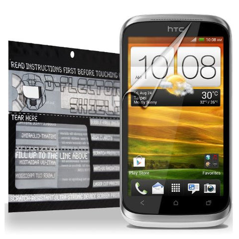 D-Flectorshield HTC Desire X Scratch Resistant Screen Protector - Free Replacement Program