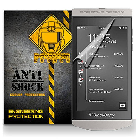 D-Flectorshield BlackBerry Porsche Design P'9982 Anti-Shock/military grade/ TPU /Premium Screen Protector / self healing / oleophobic material / EZ install / ultra high definition / scratch proof / bubble free install / precise laser cuts