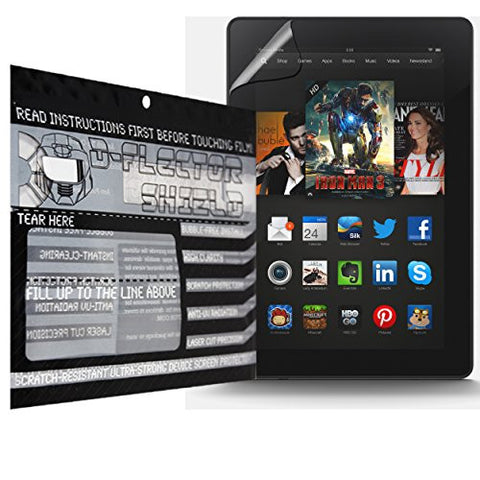 D-Flectorshield Amazon Fire HDX 8.9 Scratch Resistant Screen Protector - Free Replacement Program