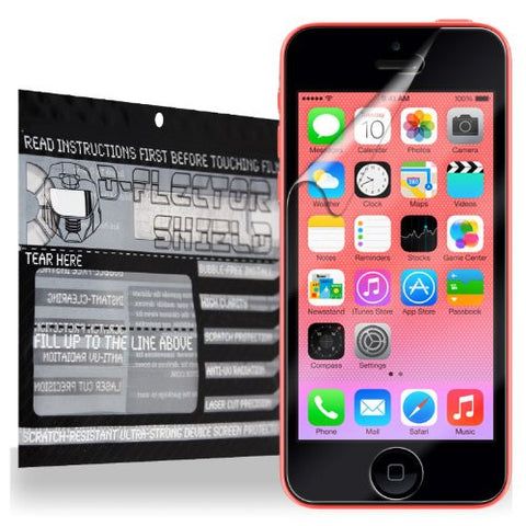 D-Flectorshield Super Clear Scratch Resistant Apple iPhone 5C Screen Shield - Free Replacement Program