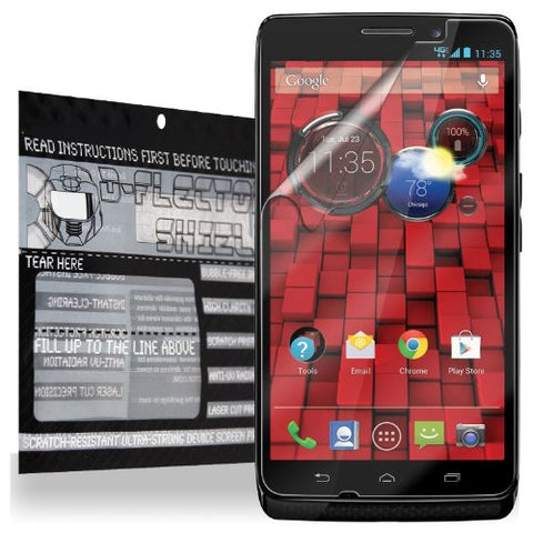 D-Flector Super Clear Scratch Resistant MOTOROLA DROID MAXX Screen Protector - Free Replacement Program