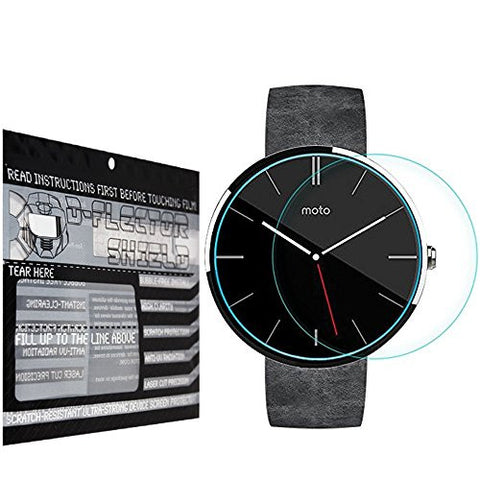 DFlectorshield Premium Scratch Resistant Screen Protector for the Motorola Moto 360 HD Protection with free Lifetime Replacement Program