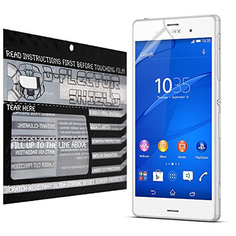 D-Flectorshield Sony Xperia Z3V Scratch Resistant Screen Protector - Free Replacement Program